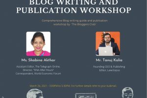 A Report on Blog Writing and Publication Workshop by The Blogger's Club