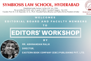 A Report on the Editor's Workshop